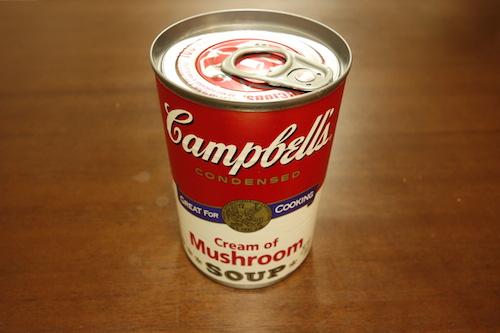 クリームマッシュルーム缶