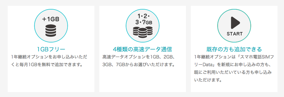 日本通信B-MOBILE高速データ通信オプション3