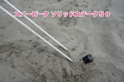 タープ砂浜設営10